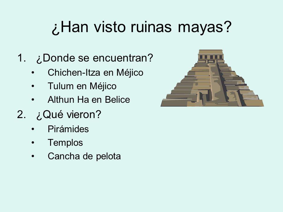 ¿Han visto ruinas mayas