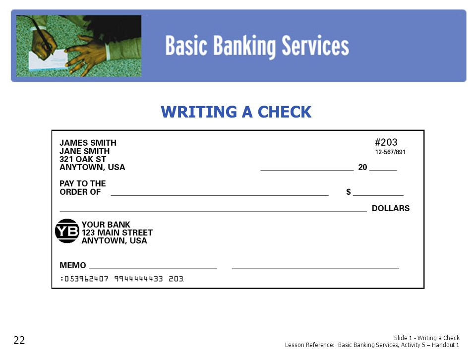 Check writing service