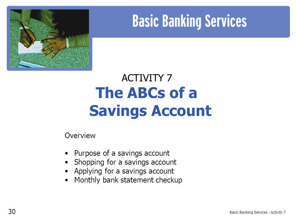 activity 1 u2026 u2026 u2026 u2026 why do you need a bank