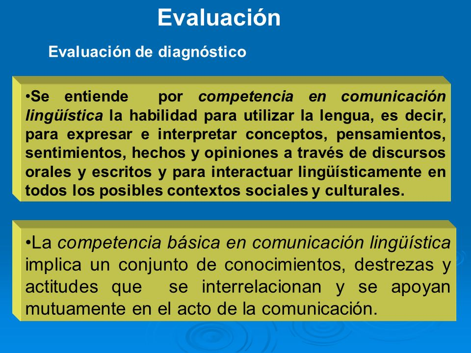 EvaluaciónEvaluación de diagnóstico.