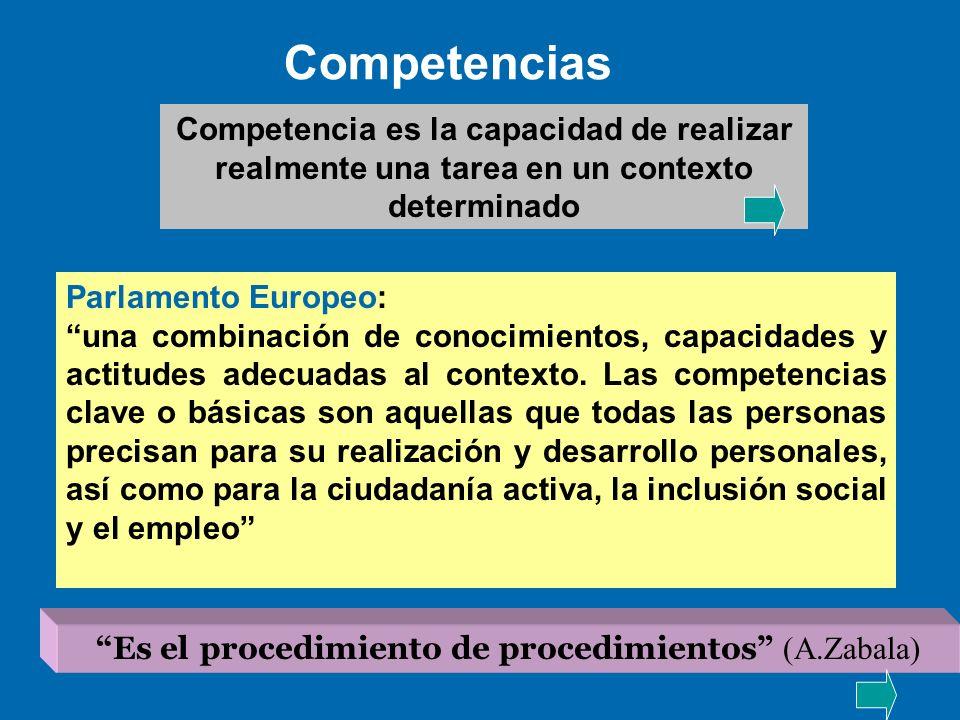 Es el procedimiento de procedimientos (A.Zabala)