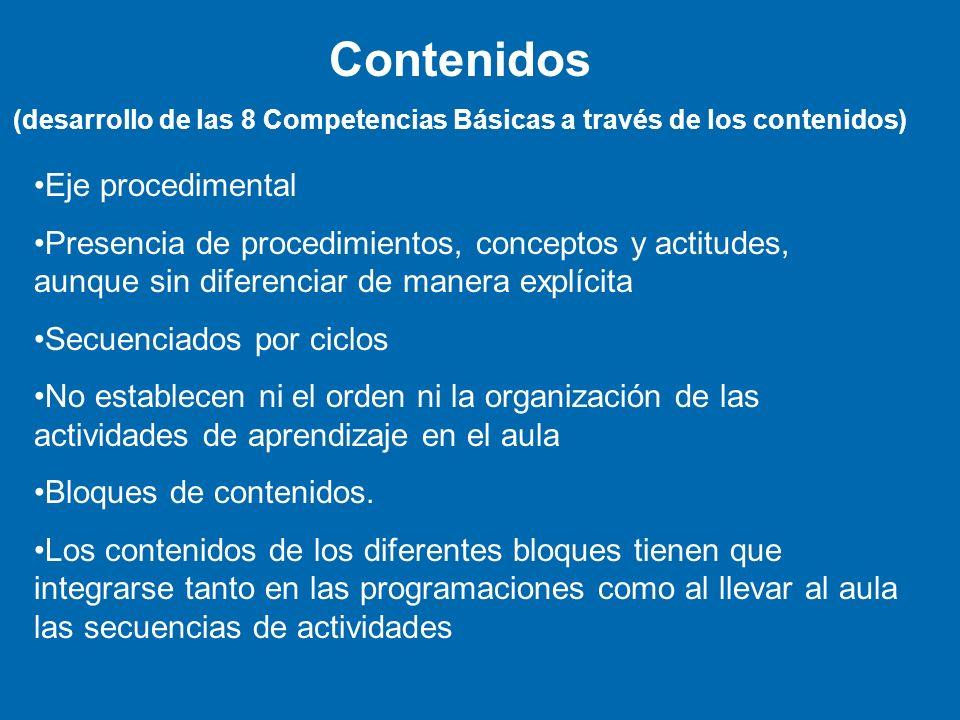 (desarrollo de las 8 Competencias Básicas a través de los contenidos)