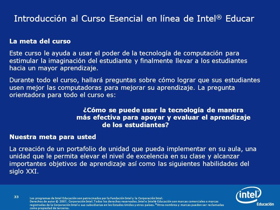 Introducción al Curso Esencial en línea de Intel® Educar