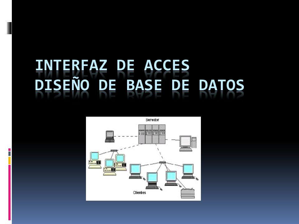 INTERFAZ DE ACCES DISEÑO DE BASE DE DATOS