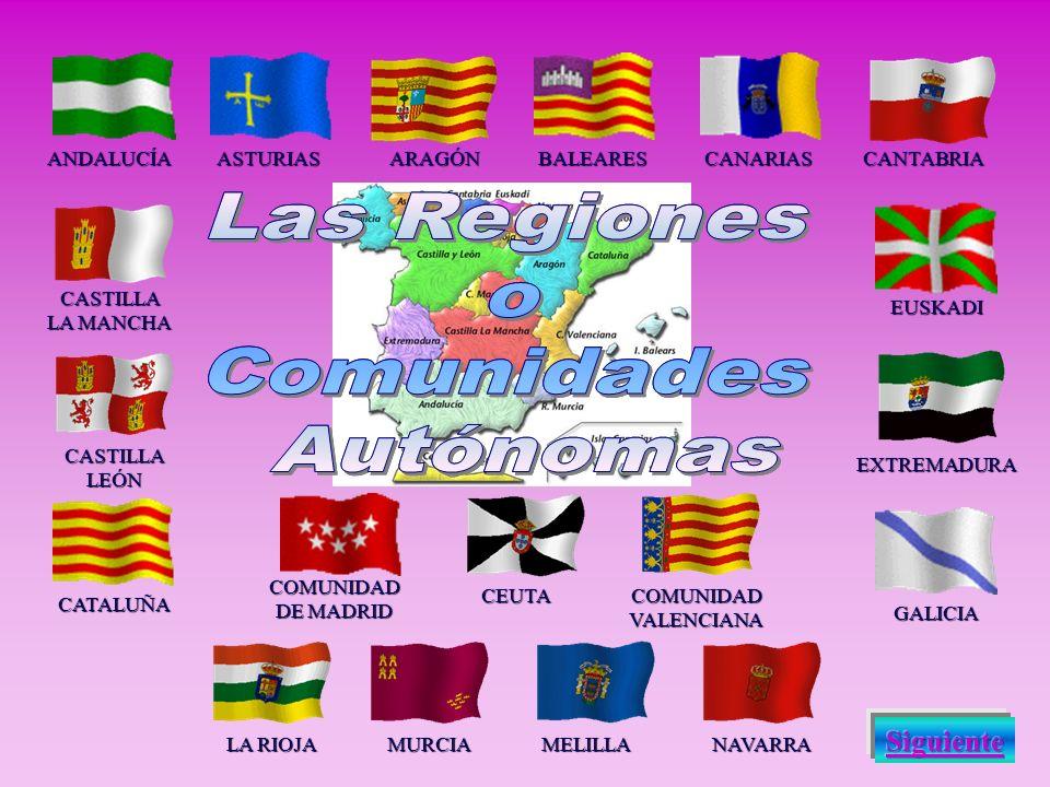 Las Regiones o Comunidades Autónomas Las Regiones o Comunidades