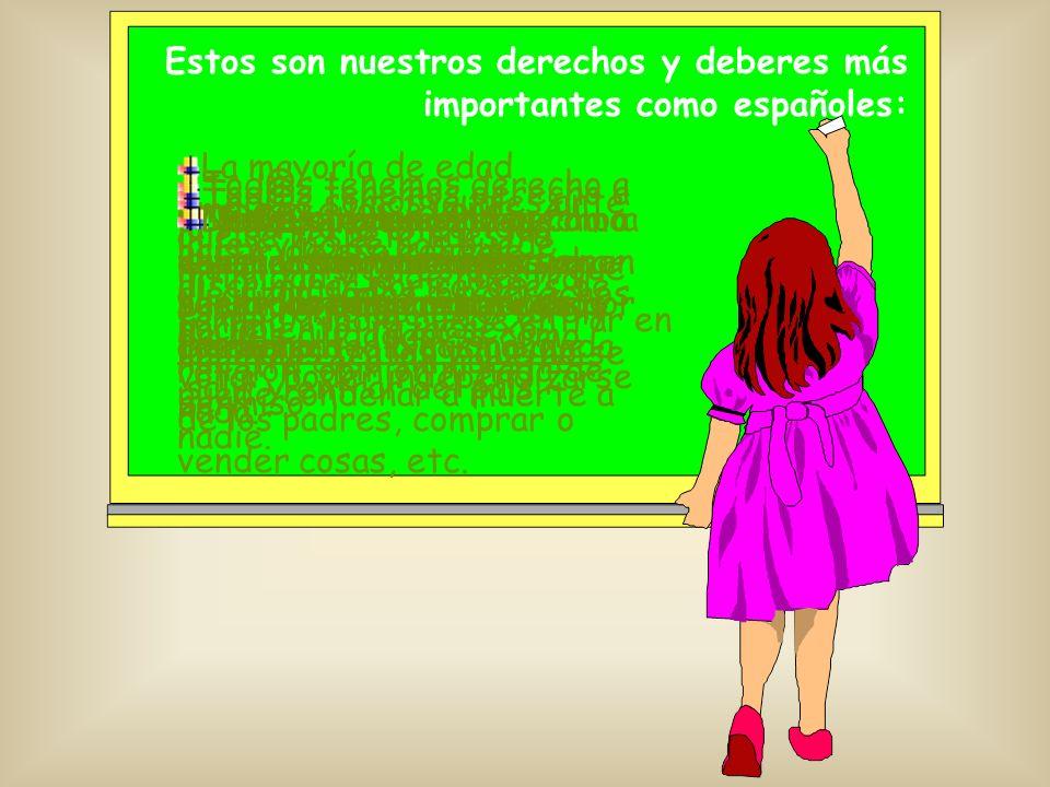 Estos son nuestros derechos y deberes más importantes como españoles: