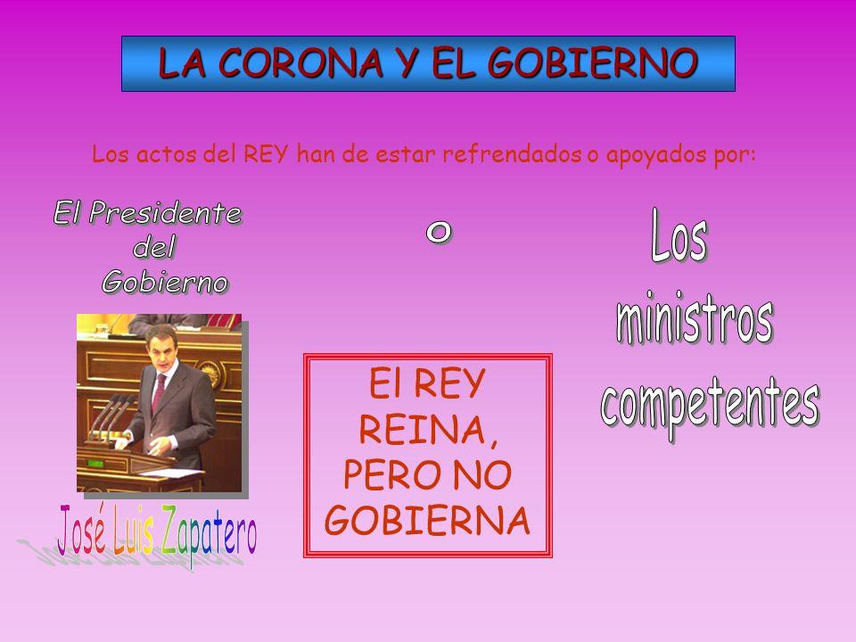 El Presidente Los o del ministros Gobierno competentes