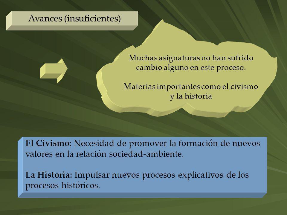 Avances (insuficientes)