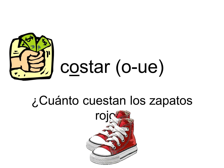 ¿Cuánto cuestan los zapatos rojos
