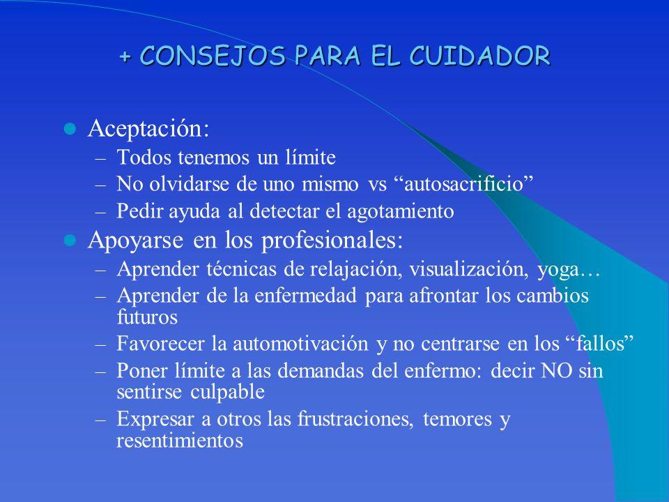 + CONSEJOS PARA EL CUIDADOR