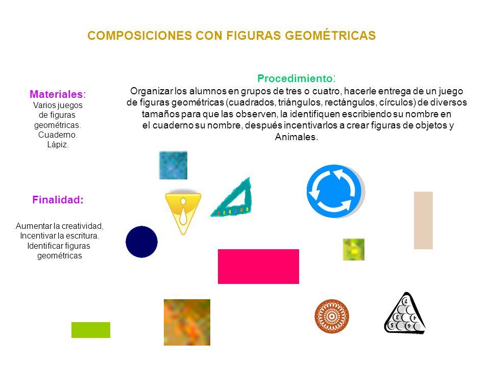 COMPOSICIONES CON FIGURAS GEOMÉTRICAS