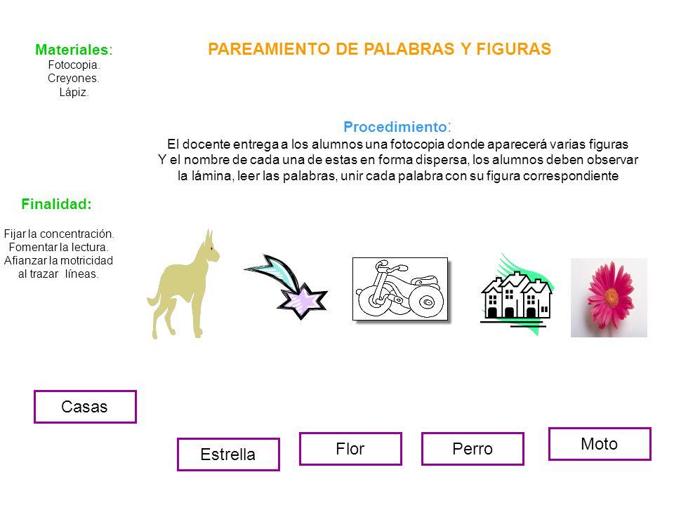 PAREAMIENTO DE PALABRAS Y FIGURAS