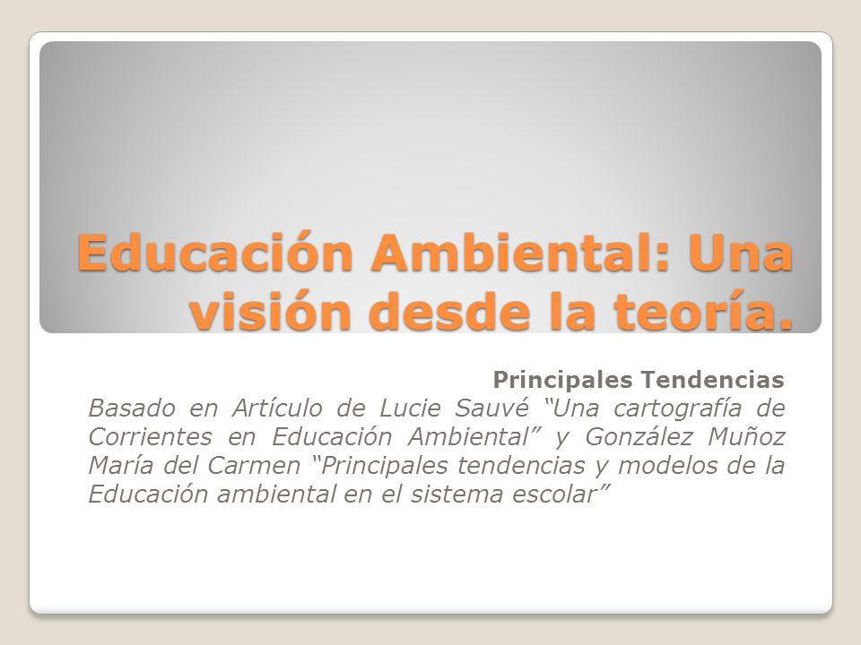 Educación Ambiental: Una visión desde la teoría.