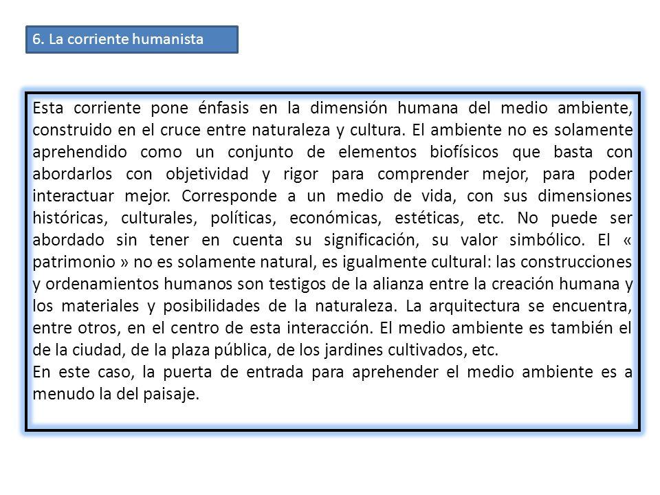 6. La corriente humanista