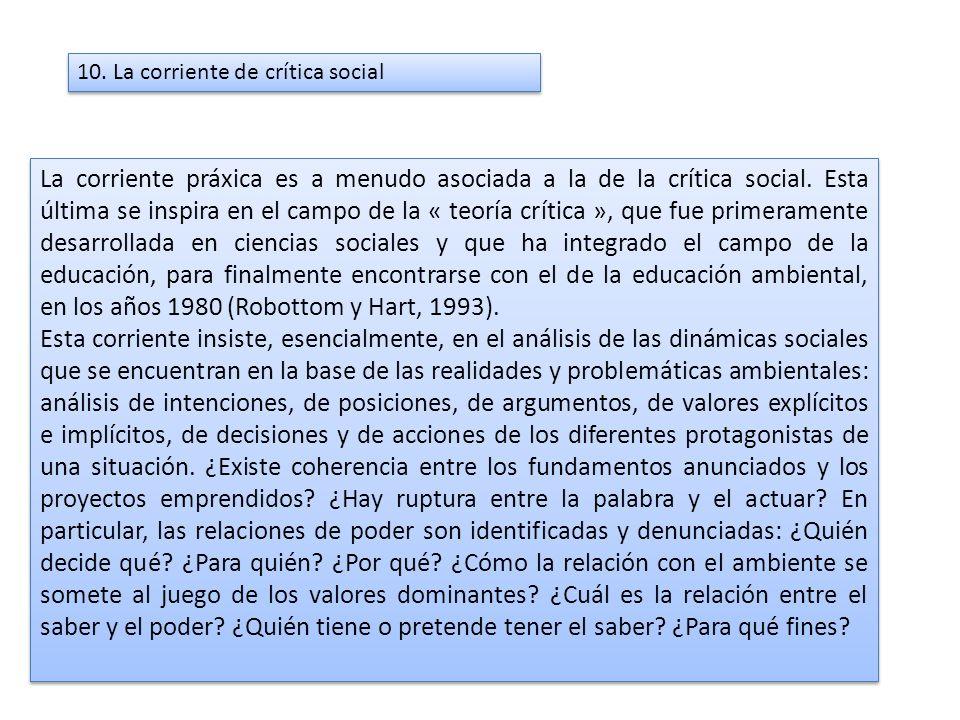 10. La corriente de crítica social