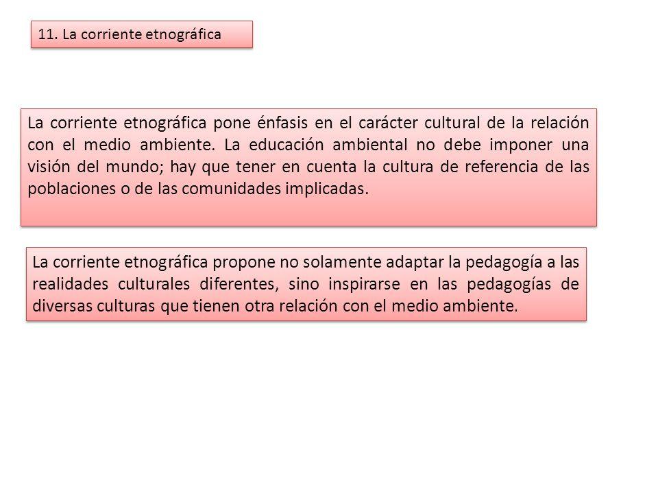 11. La corriente etnográfica