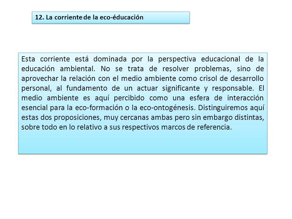 12. La corriente de la eco-éducación