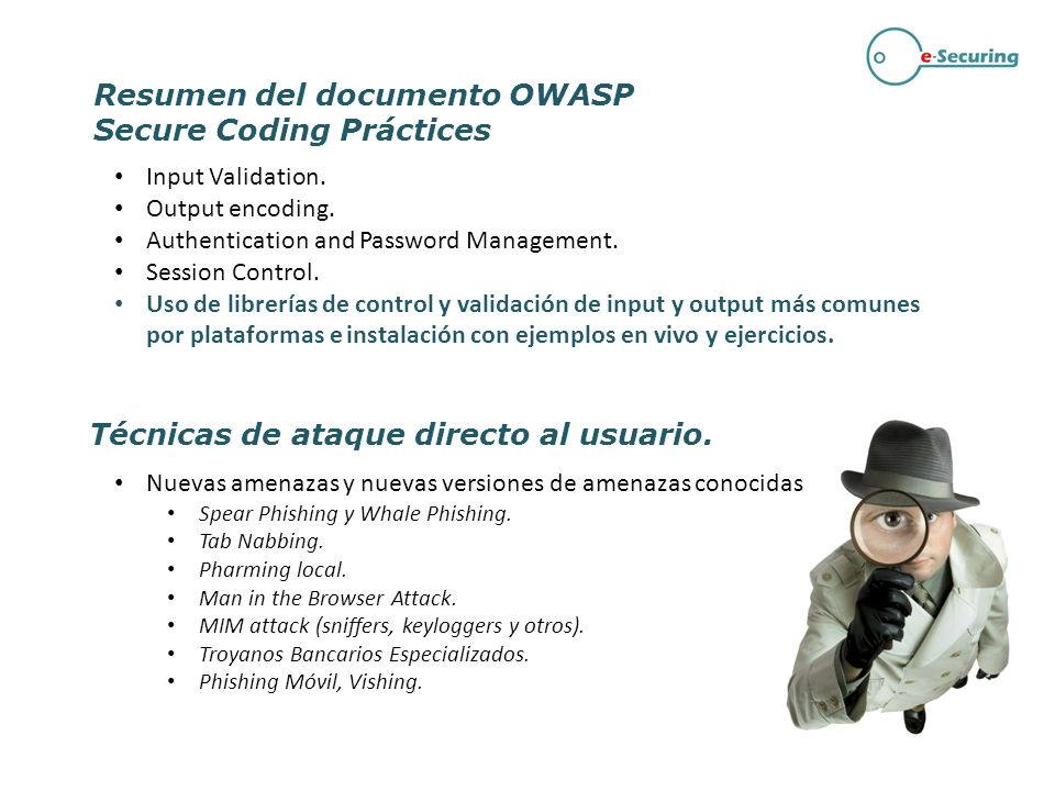 Resumen del documento OWASP Secure Coding Práctices