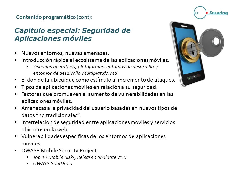 Capítulo especial: Seguridad de Aplicaciones móviles