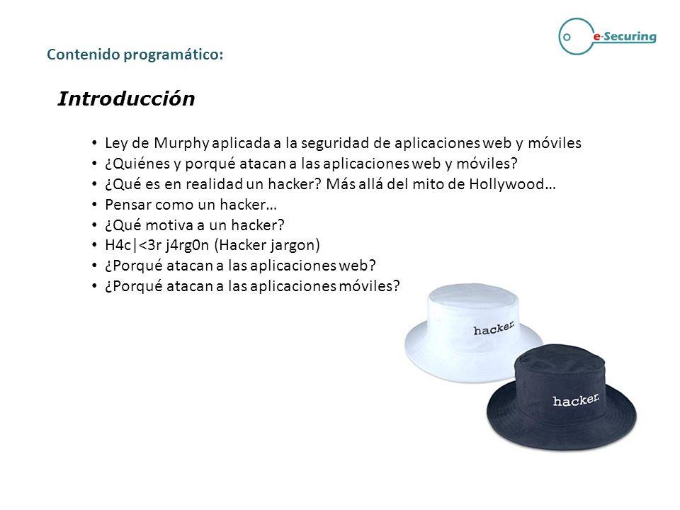 Introducción Contenido programático:
