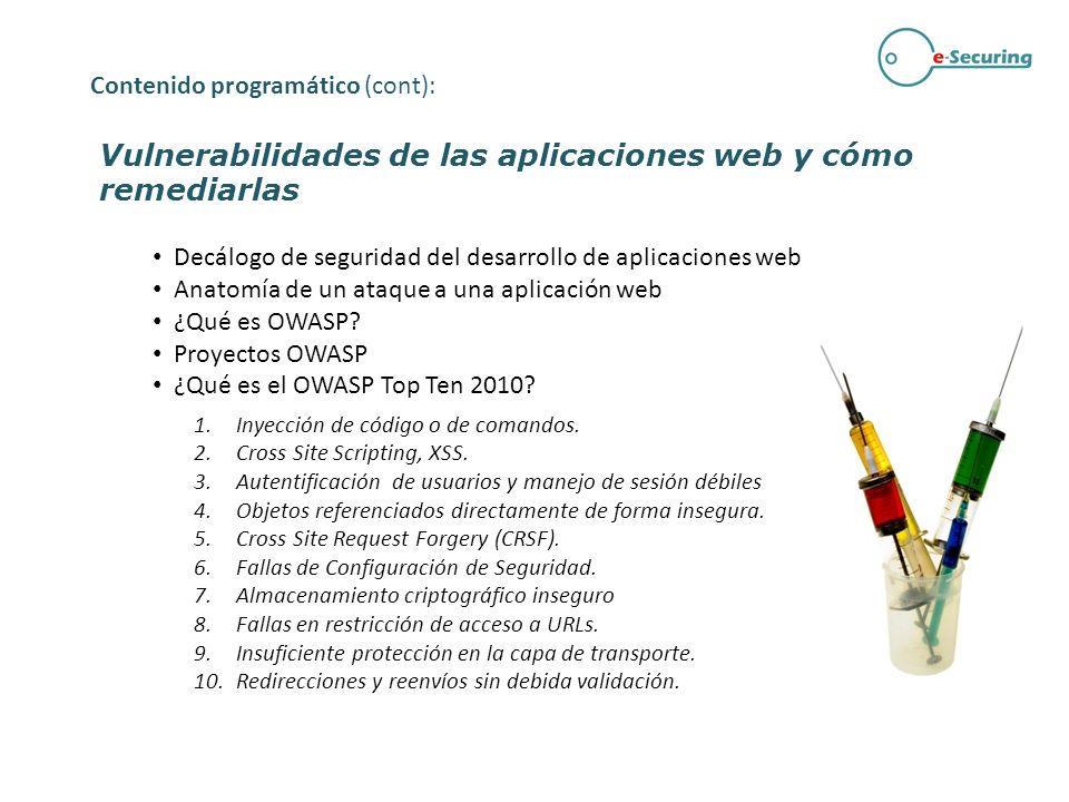 Vulnerabilidades de las aplicaciones web y cómo remediarlas