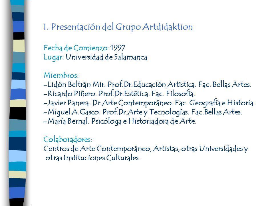 I. Presentación del Grupo Artdidaktion