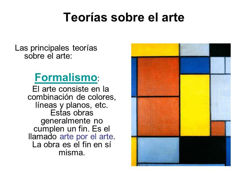 Teorías sobre el arte Formalismo:
