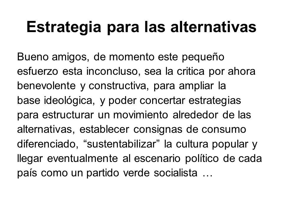 Estrategia para las alternativas