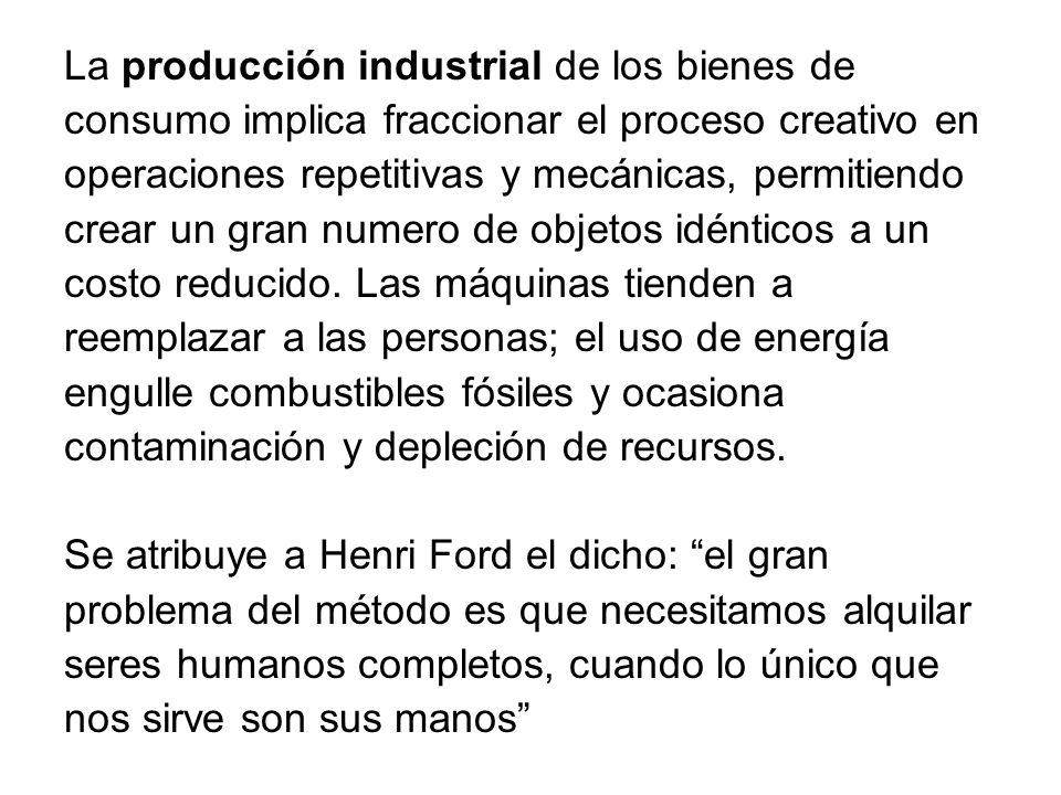 La producción industrial de los bienes de