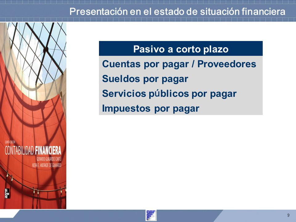 Presentación en el estado de situación financiera