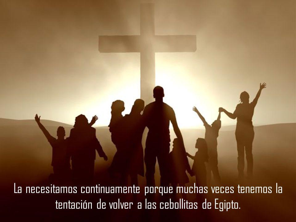 La necesitamos continuamente porque muchas veces tenemos la tentación de volver a las cebollitas de Egipto.