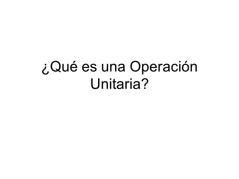 ¿Qué es una Operación Unitaria