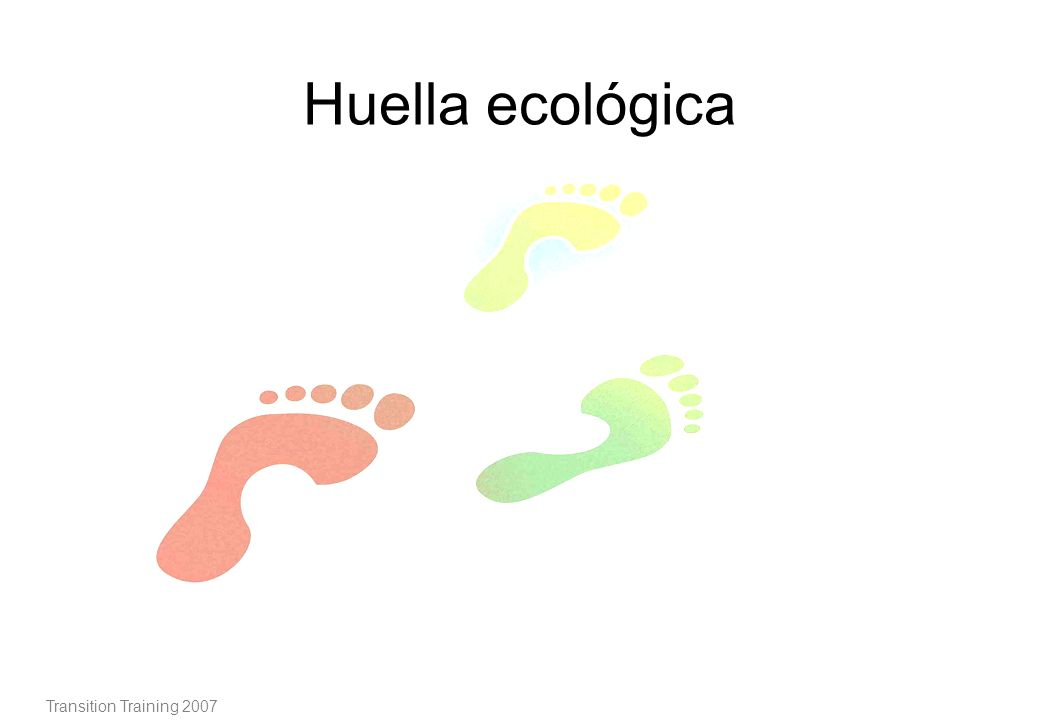 Huella ecológica Transition Training 2007