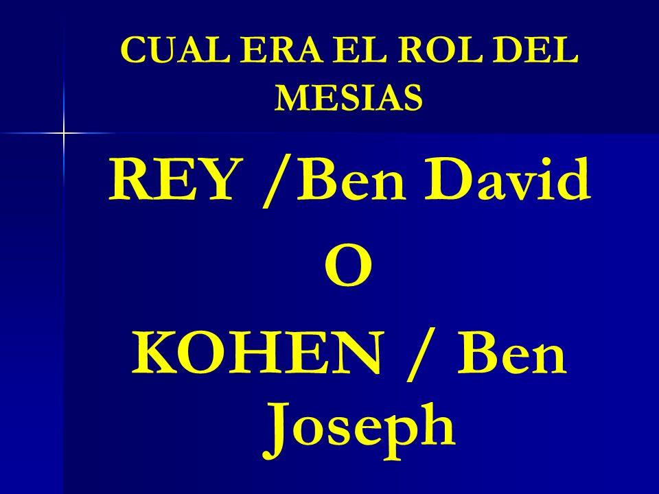 CUAL ERA EL ROL DEL MESIAS