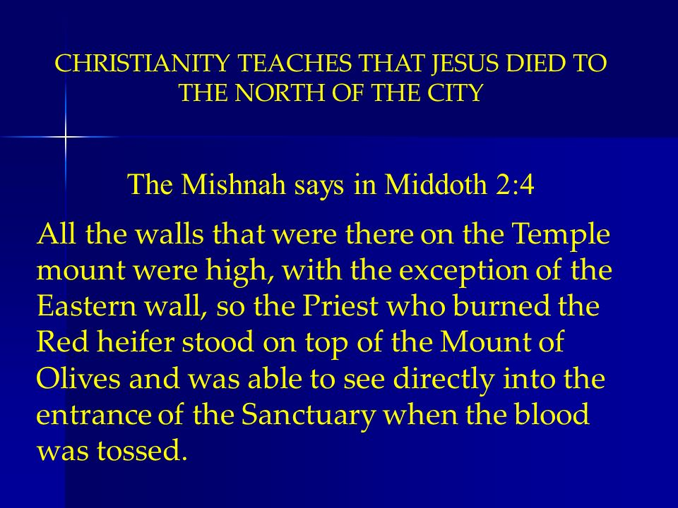 The Mishnah says in Middoth 2:4