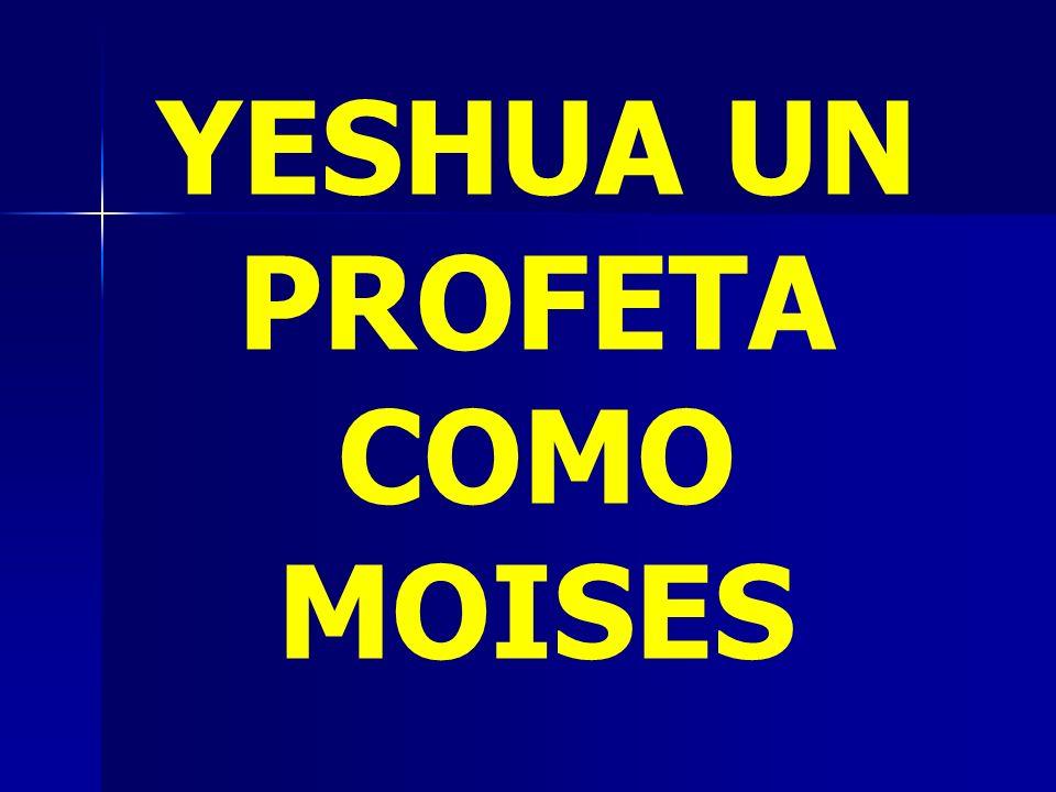 YESHUA UN PROFETA COMO MOISES