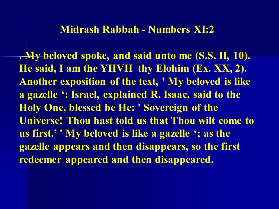 Midrash Rabbah - Numbers XI:2