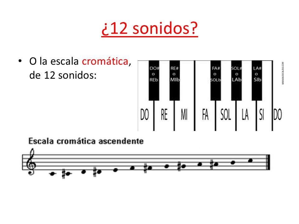 ¿12 sonidos O la escala cromática, de 12 sonidos: