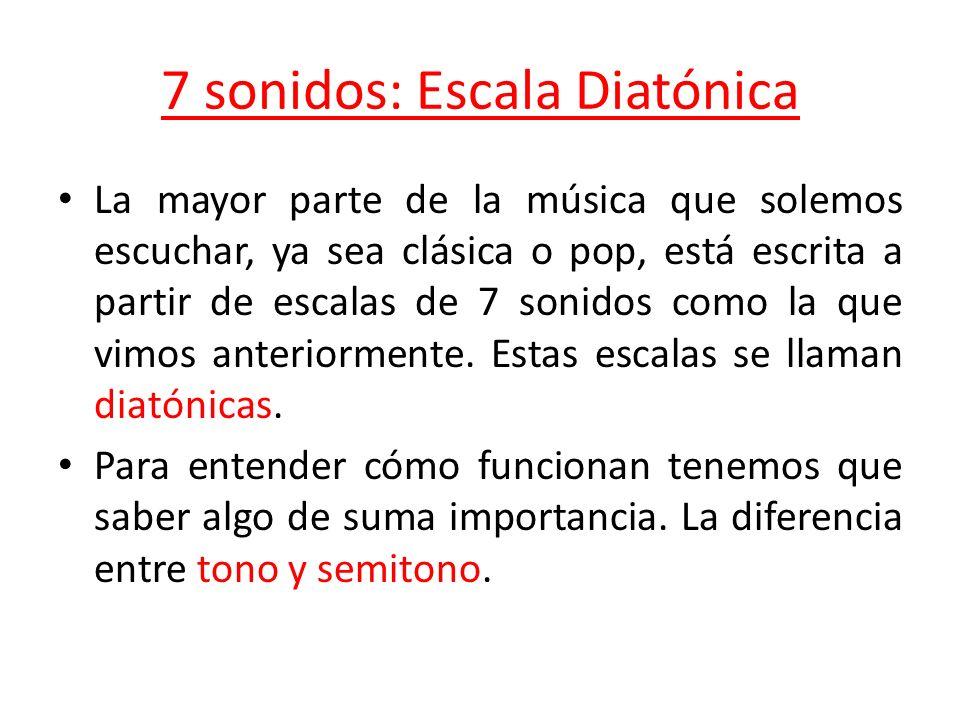 7 sonidos: Escala Diatónica