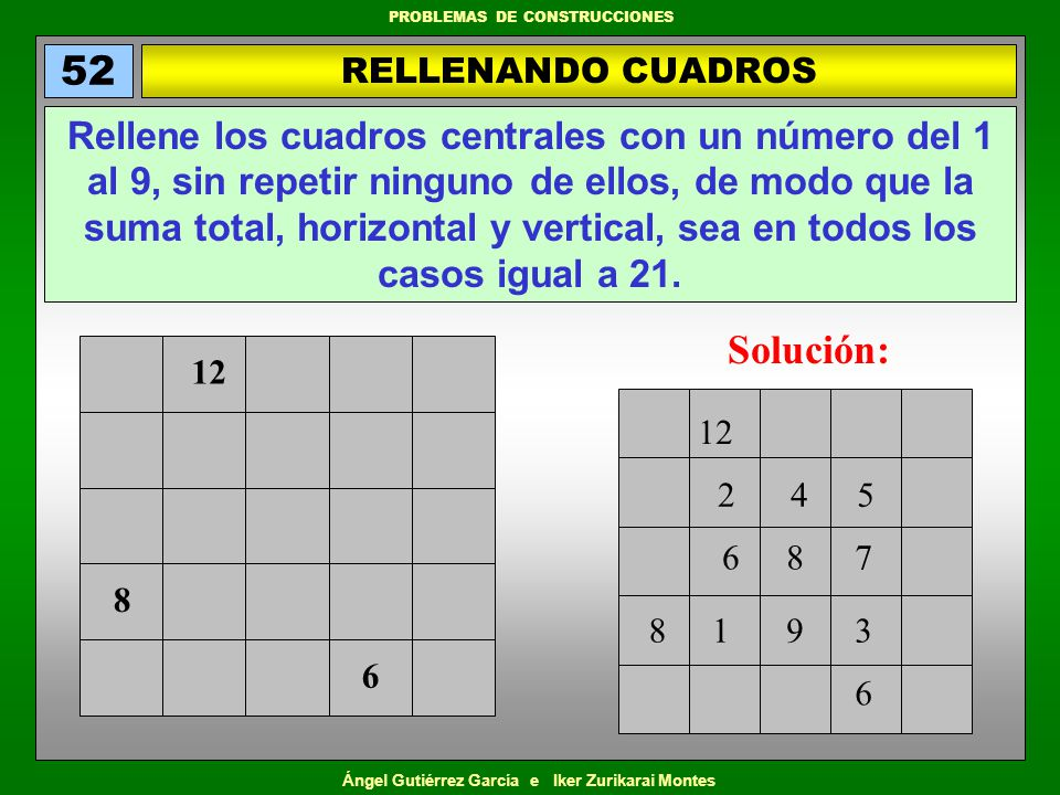 52 RELLENANDO CUADROS.