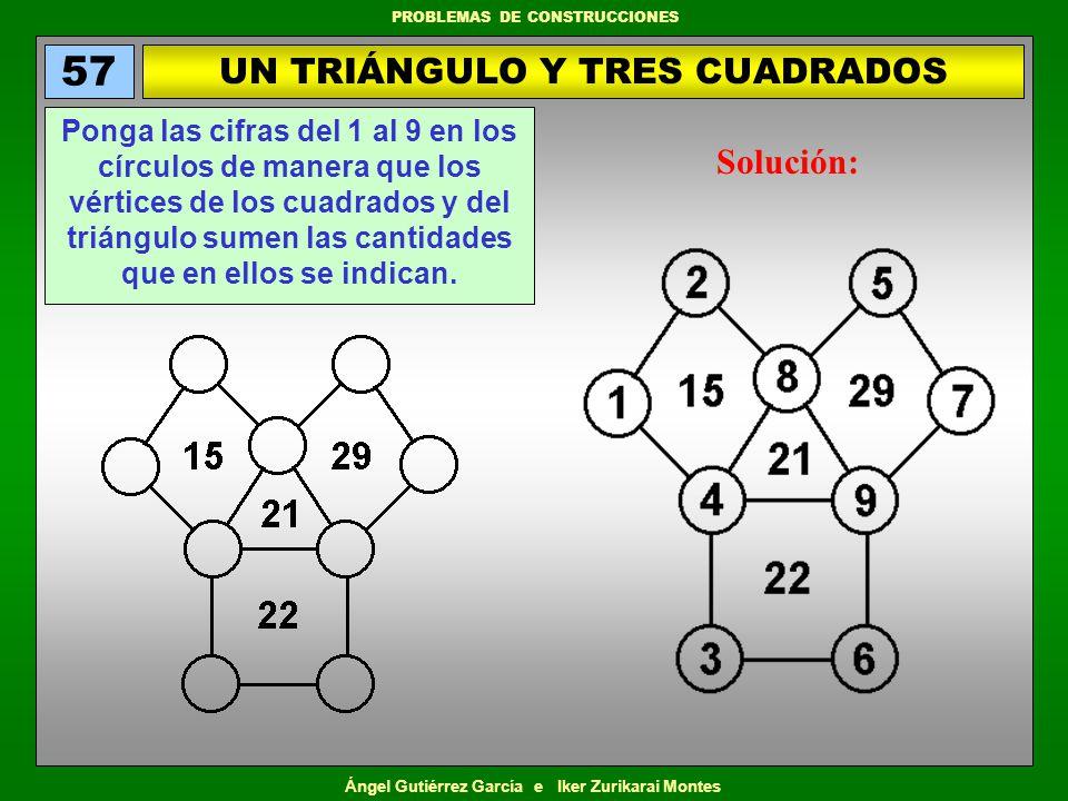 UN TRIÁNGULO Y TRES CUADRADOS