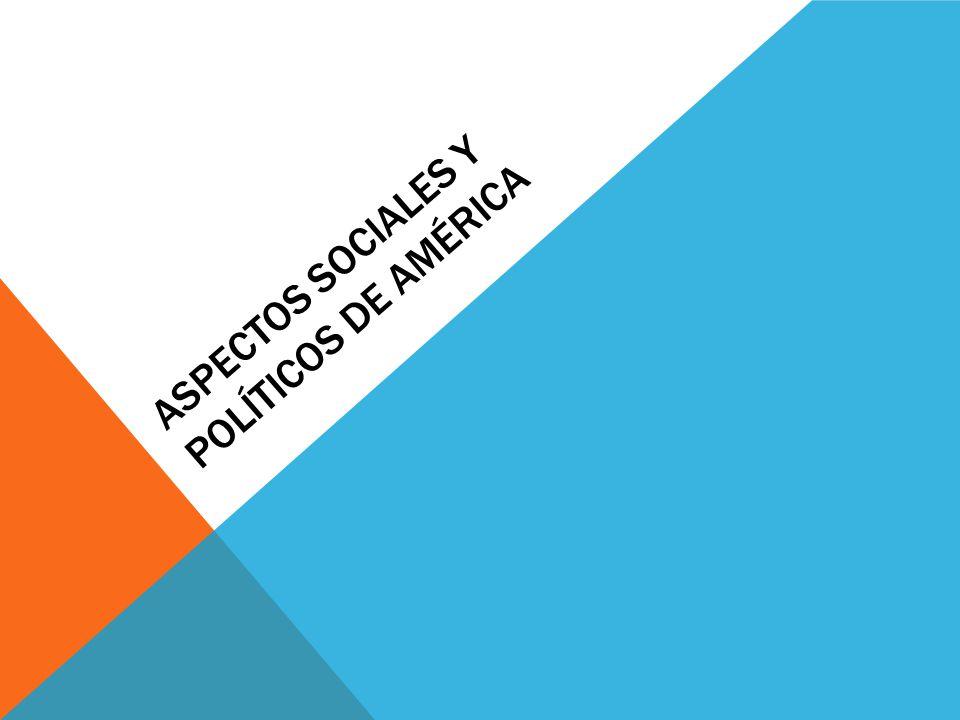 Aspectos Sociales y Políticos de américa