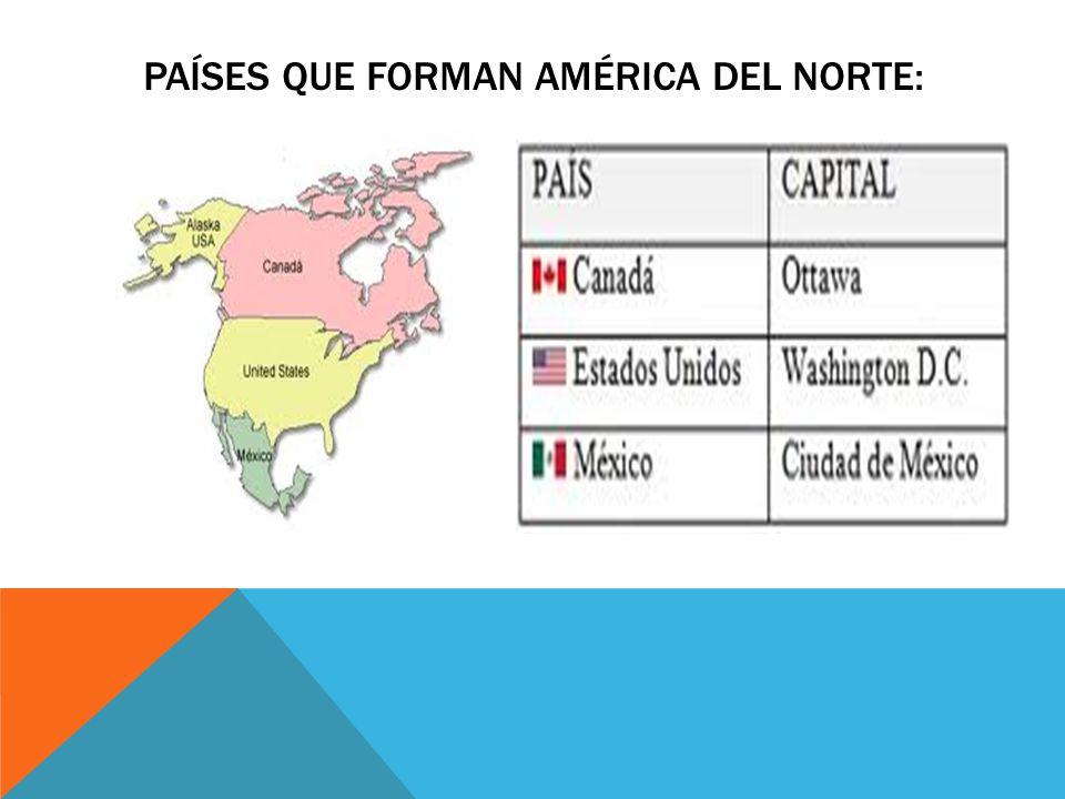 Países que forman américa del norte: