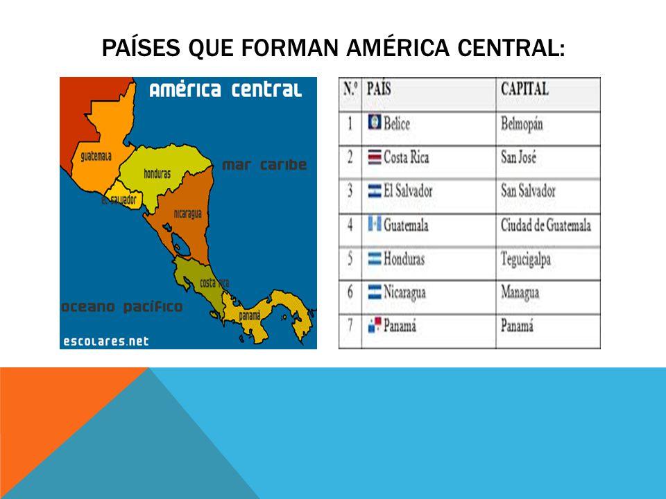 Países que forman américa central: