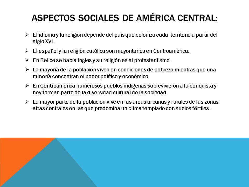 Aspectos sociales de américa central: