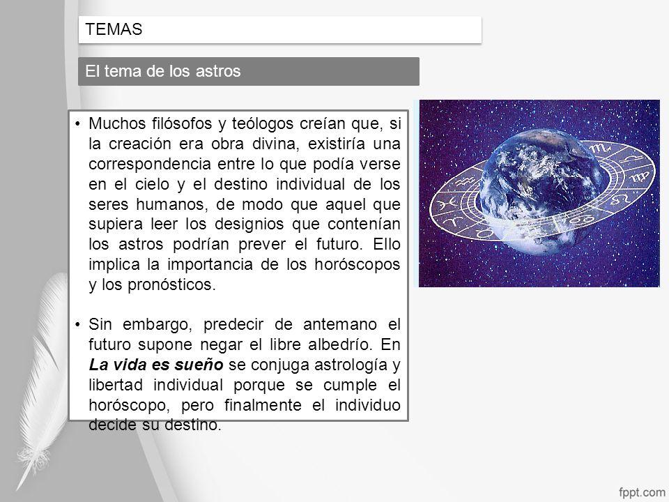 TEMAS El tema de los astros.