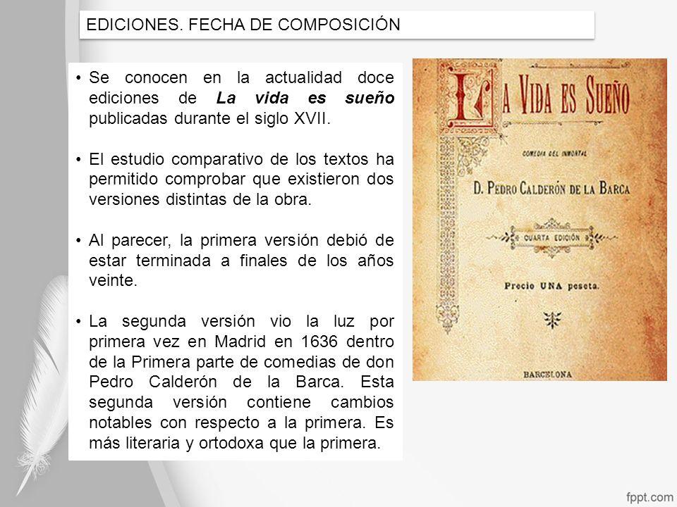 EDICIONES. FECHA DE COMPOSICIÓN