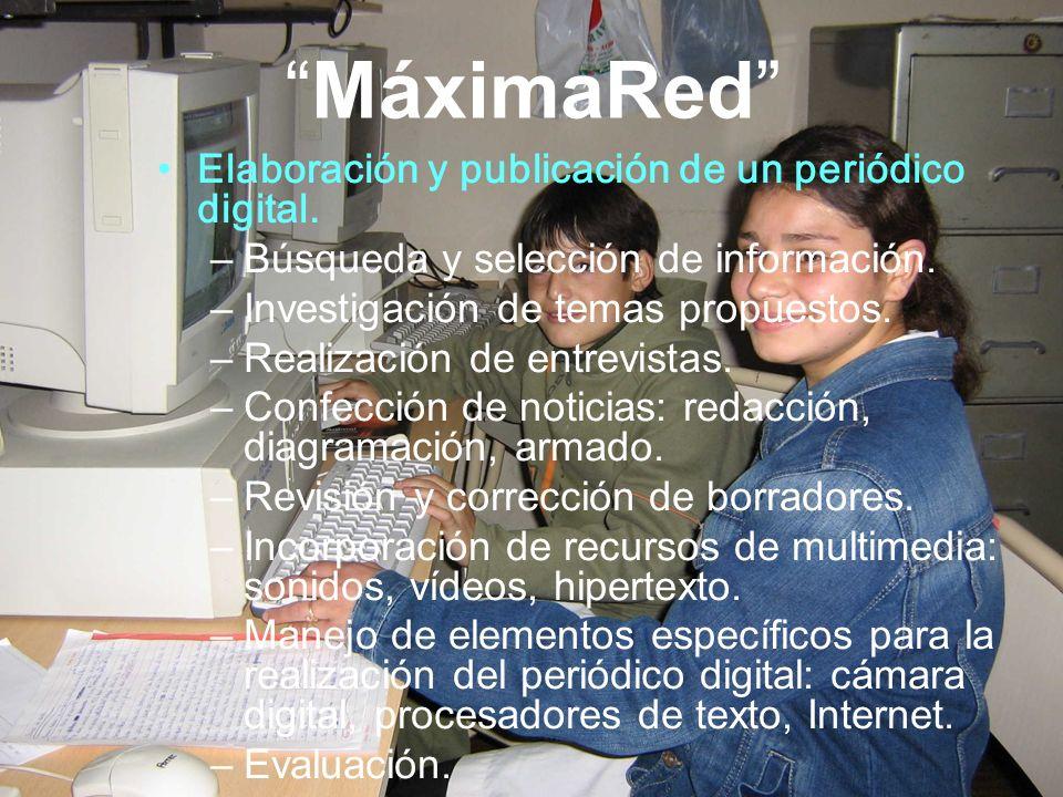 MáximaRed Elaboración y publicación de un periódico digital.