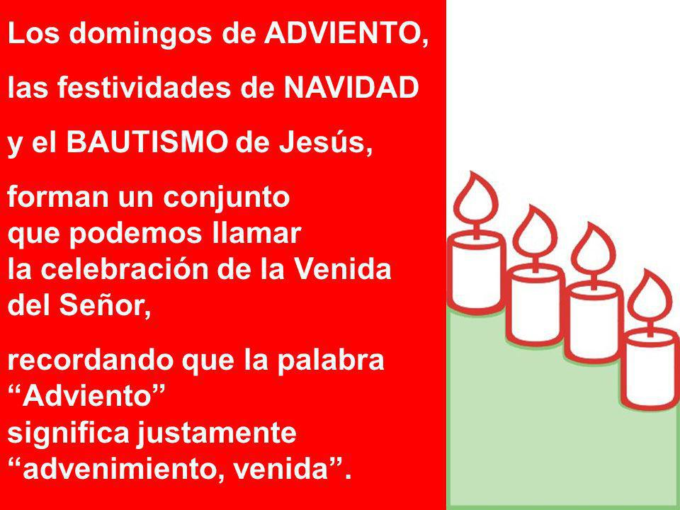 Los domingos de ADVIENTO,