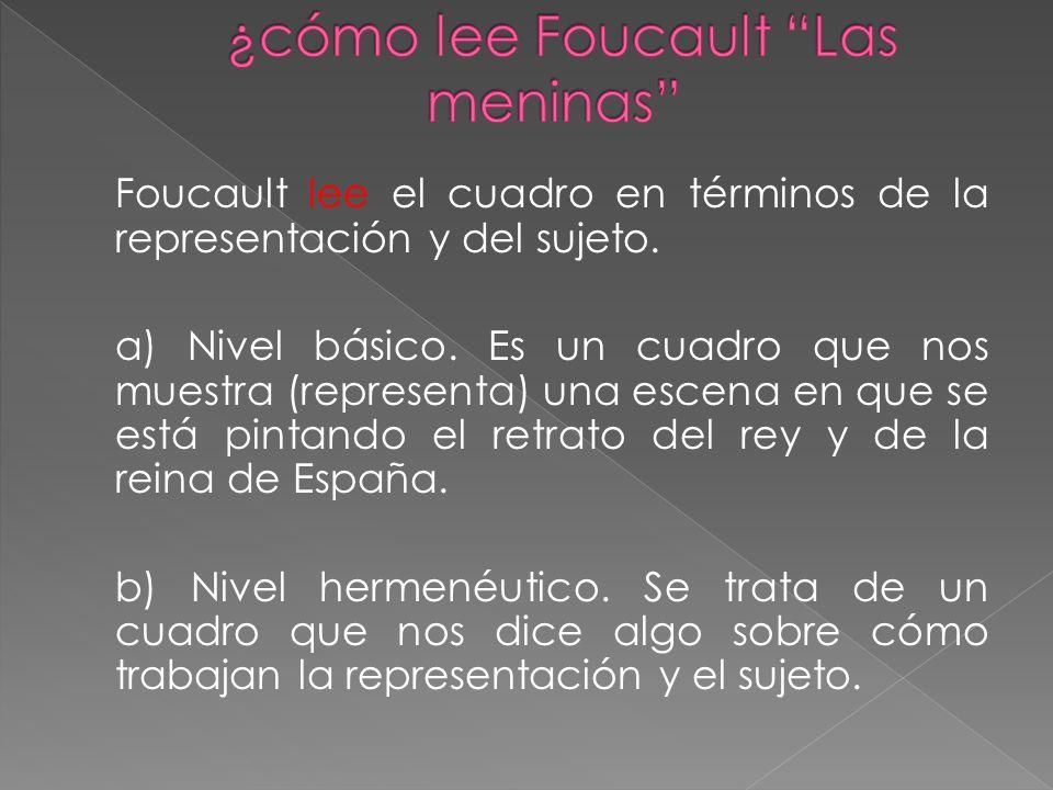¿cómo lee Foucault Las meninas